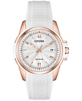 Citizen Drive From Citizen Eco-Drive Women s White Silicone Strap Watch 38mm f539e92a4