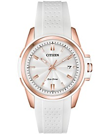 Citizen Drive From Citizen Eco-Drive Women's White Silicone Strap Watch 38mm