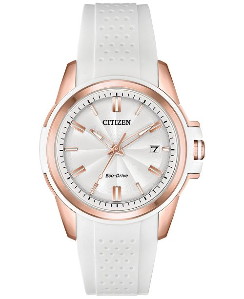... Citizen Drive From Citizen Eco-Drive Women s White Silicone Strap Watch  ... 5995aaca34