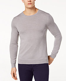 Tasso Elba Men's Merino Wool Sweater, Created for Macy's