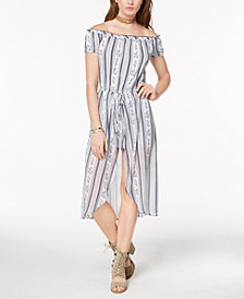 Be Bop Juniors' Off-The-Shoulder Romper Dress