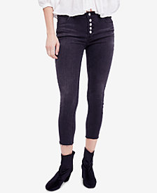 Free People Reagan Raw-Hem Skinny Jeans