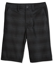 Univibe Signature Plaid Cotton Shorts, Big Boys