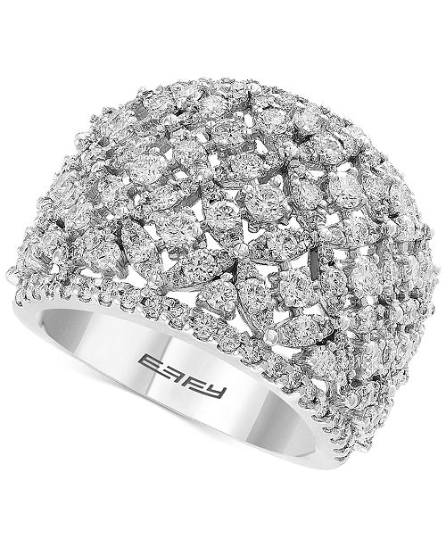 EFFY Collection EFFY® Diamond Openwork Ring (2-1/10 ct. t.w.) Ring in 14k White Gold