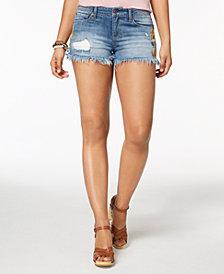 Vanilla Star Juniors' Embroidered Denim Shorts