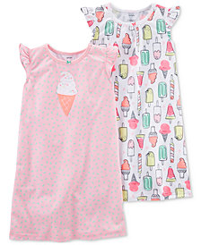 Carter's 2-Pack Ice Cream-Print Nightgowns, Little Girls & Big Girls