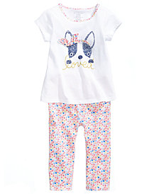 First Impressions Graphic-Print T-Shirt & Leggings Separates, Baby Girls, Created for Macy's