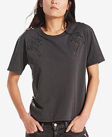 Levi's® Alicia Cotton Crochet-Detail T-Shirt