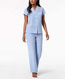 Charter Club Woven Pajama Set, Created for Macy's