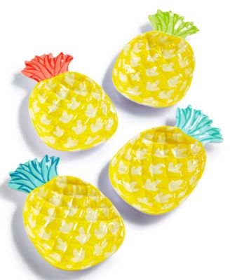 main image  sc 1 st  Macyu0027s & Martha Stewart Collection 4-Pc. Pineapple Appetizer Plate Set ...