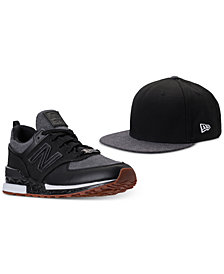 New Balance Men's 574 Sport x New Era 9Fifty Hat and Casual Sneakers Set from Finish Line