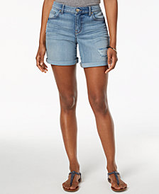 Style & Co Rolled Denim Shorts, Created for Macy's