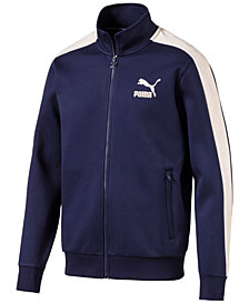 Puma Men's T7 Faux-Suede Trim Track Jacket