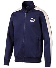Puma Men's T7 Faux-Suede Trim Track Jacket