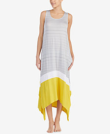 DKNY Sleeveless Contrast-Panel Nightgown