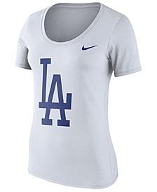 Women's Los Angeles Dodgers Cotton Crew Logo T-Shirt