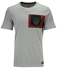 Nike Men's AS Roma Club Team Crest Logo T-Shirt