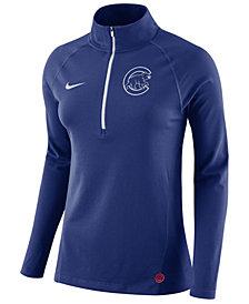 Nike Women's Chicago Cubs Half-Zip Element Pullover