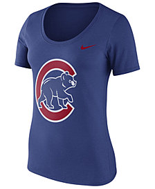 Nike Women's Chicago Cubs Cotton Crew Logo T-Shirt