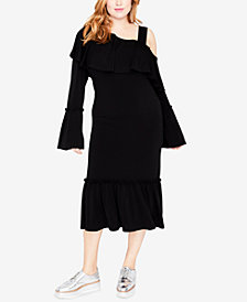 RACHEL Rachel Roy Trendy Plus Size Ruffled One-Shoulder Dress