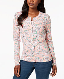 Karen Scott Petite Printed Cardigan, Created for Macy's