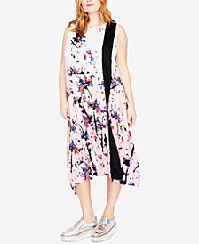 RACHEL Rachel Roy Trendy Plus Size Printed Midi Dress