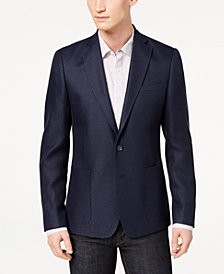 CLOSEOUT! DKNY Men's Modern-Fit Blue Basketweave Sport Coat