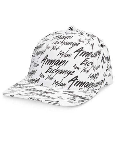 Armani Exchange Men's Logo Baseball Hat