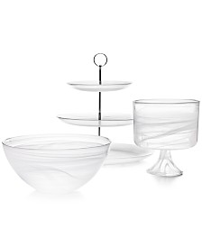 CLOSEOUT! Martha Stewart Collection Swirl Glass Collection, Created for Macy's
