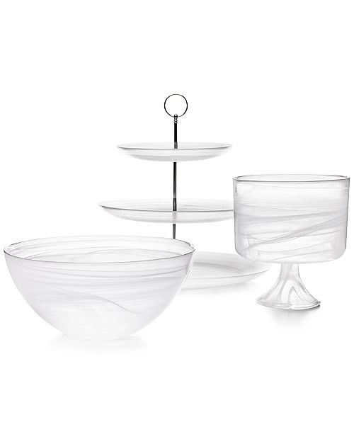 Martha Stewart Collection Swirl Glass Collection, Created for Macy's
