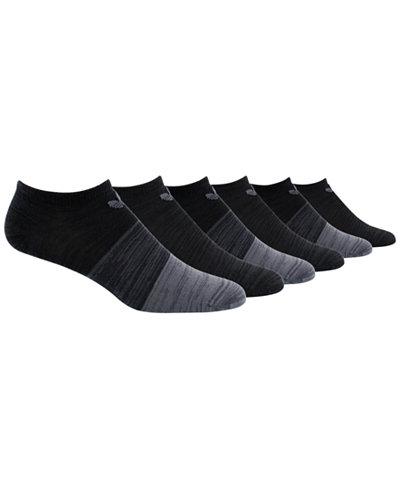 adidas Originals 6-Pk. Colorblocked No-Show Socks