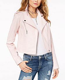 GUESS Bently Faux-Leather Moto Jacket