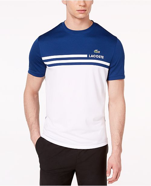 ae5bda9271 ... Lacoste Men's Ultra Dry Colorblocked Logo-Print Piqué T-Shirt,  ...