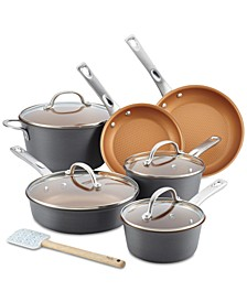 11-Pc. Hard-Anodized Aluminum Cookware Set