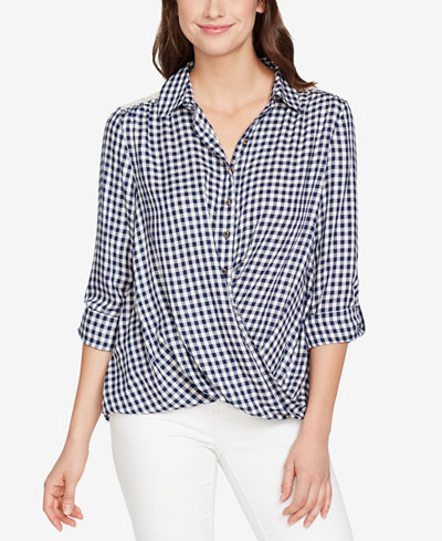 Vintage America Gingham Lace-Contrast Shirt