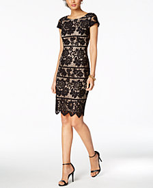 Jessica Howard Short-Sleeve Lace Dress