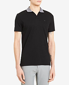 Calvin Klein Men's Liquid Touch Contrast Collar Polo