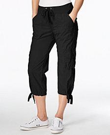 Calvin Klein Performance Poplin Capri Cargo Pants