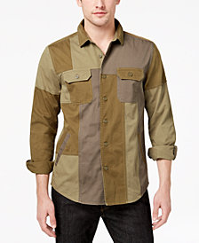 American Rag Men's Patchwork Shirt, Created for Macy's