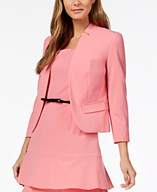 Nine West Bi-Stretch Kiss-Front Jacket