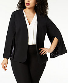 Nine West Plus Size Split-Sleeve Blazer