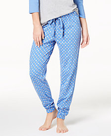 Jenni By Jennifer Moore Cotton Printed Jogger Pajama Pants, Created for Macy's