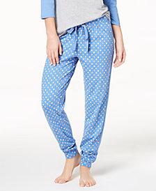Jenni by Jennifer Moore Baseball Pajama Top & Jogger Pajama Pants Sleep Separates, Created for Macy's