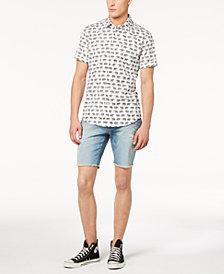 American Rag Men's Elephant-Print Shirt & Jack Denim Shorts Separates, Created for Macy's