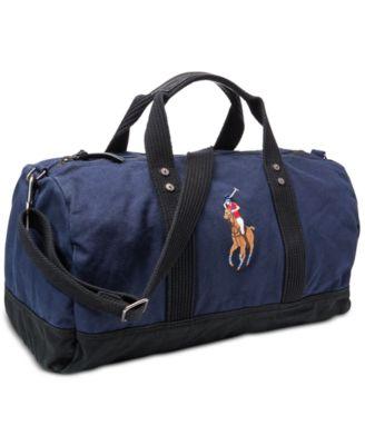 Polo Ralph Lauren. Men\u0027s Canvas Big Pony Duffel Bag. 3 reviews. main image;  main image; main image; main image ...