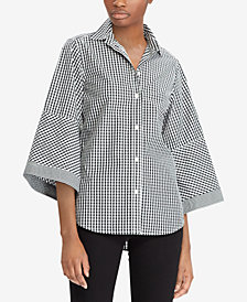 Lauren Ralph Lauren Petite Gingham Cotton Shirt
