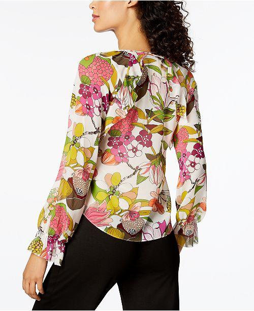 a855db30c9b89c Trina Turk Magnolia Floral-Print Top   Reviews - Tops - Women - Macy s