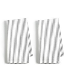 CLOSEOUT! 2-Pc. Pinstriped Gray Cotton Napkin Set, Created for Macy's