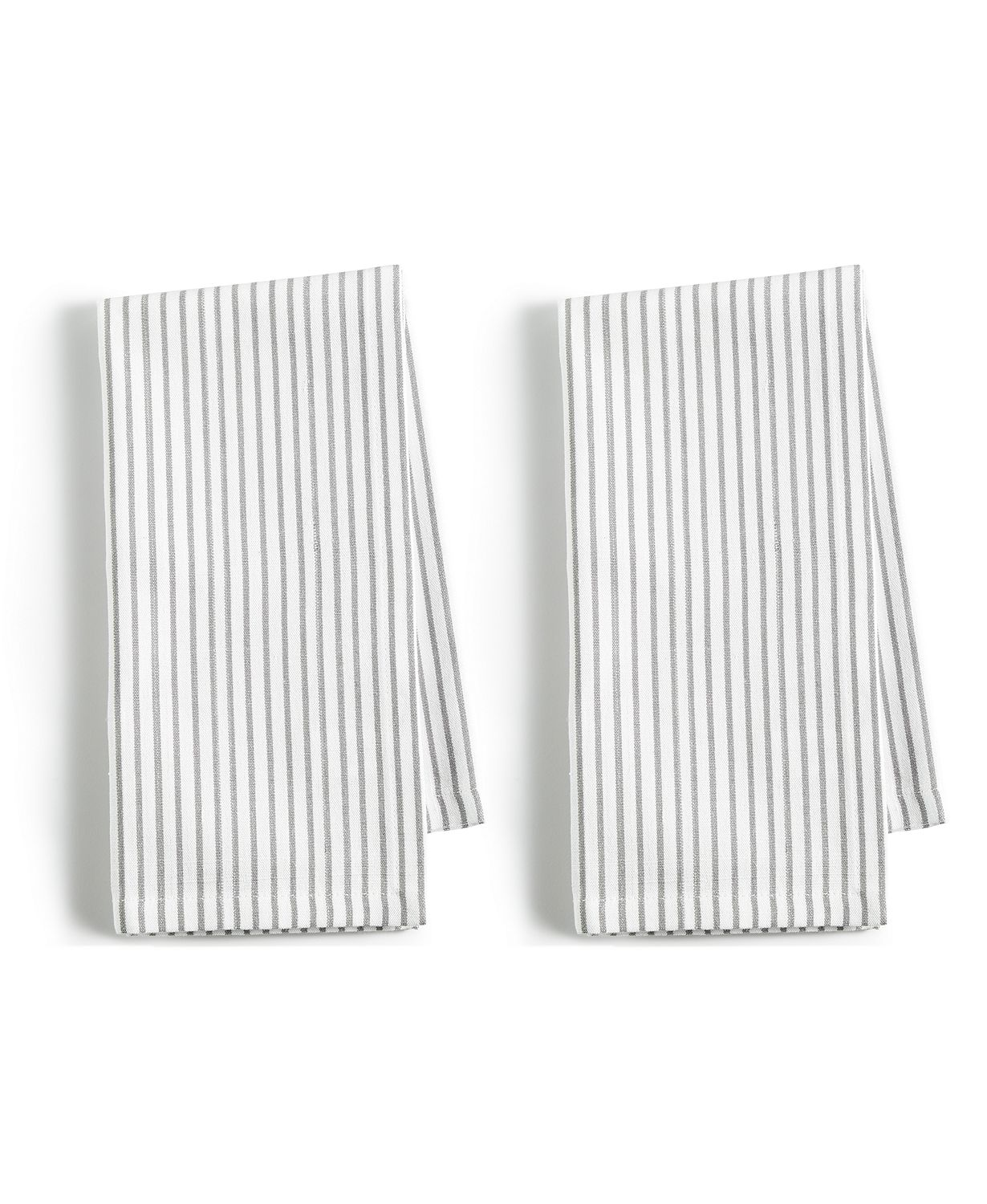 Martha Stewart Grey Pinstriped Napkins