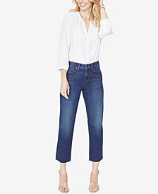 NYDJ Jenna Tummy-Control Straight-Leg Ankle Jeans
